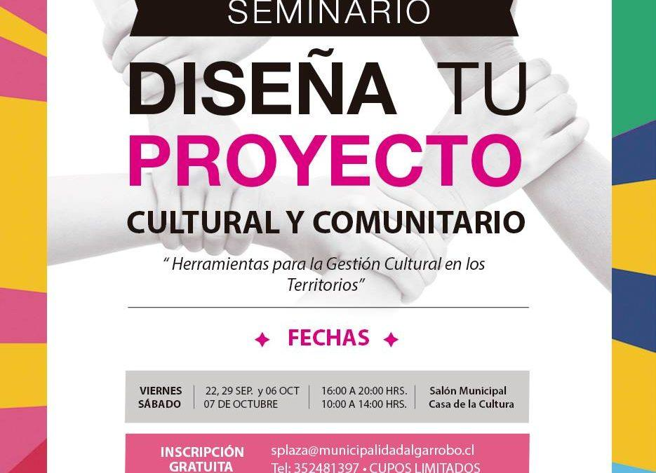 Abiertas inscripciones a curso de diseño de proyectos culturales en Algarrobo