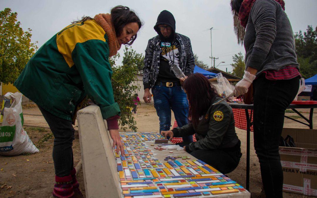 En comunidad y con carnaval organizaciones culturales se encuentran en pueblo de Maipo