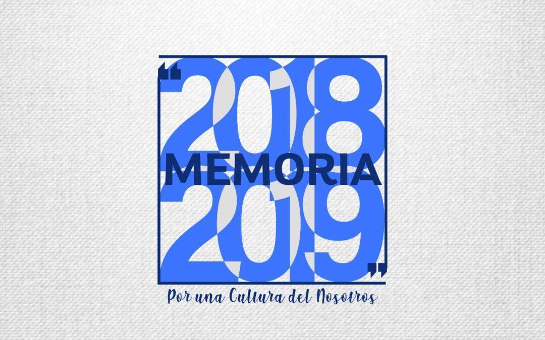 Recuperando aprendizajes y experiencias: memoria 2018-2019 de Egac