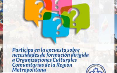 Mesa de OCCRM, realiza encuesta sobre necesidades formativas de las organizaciones culturales